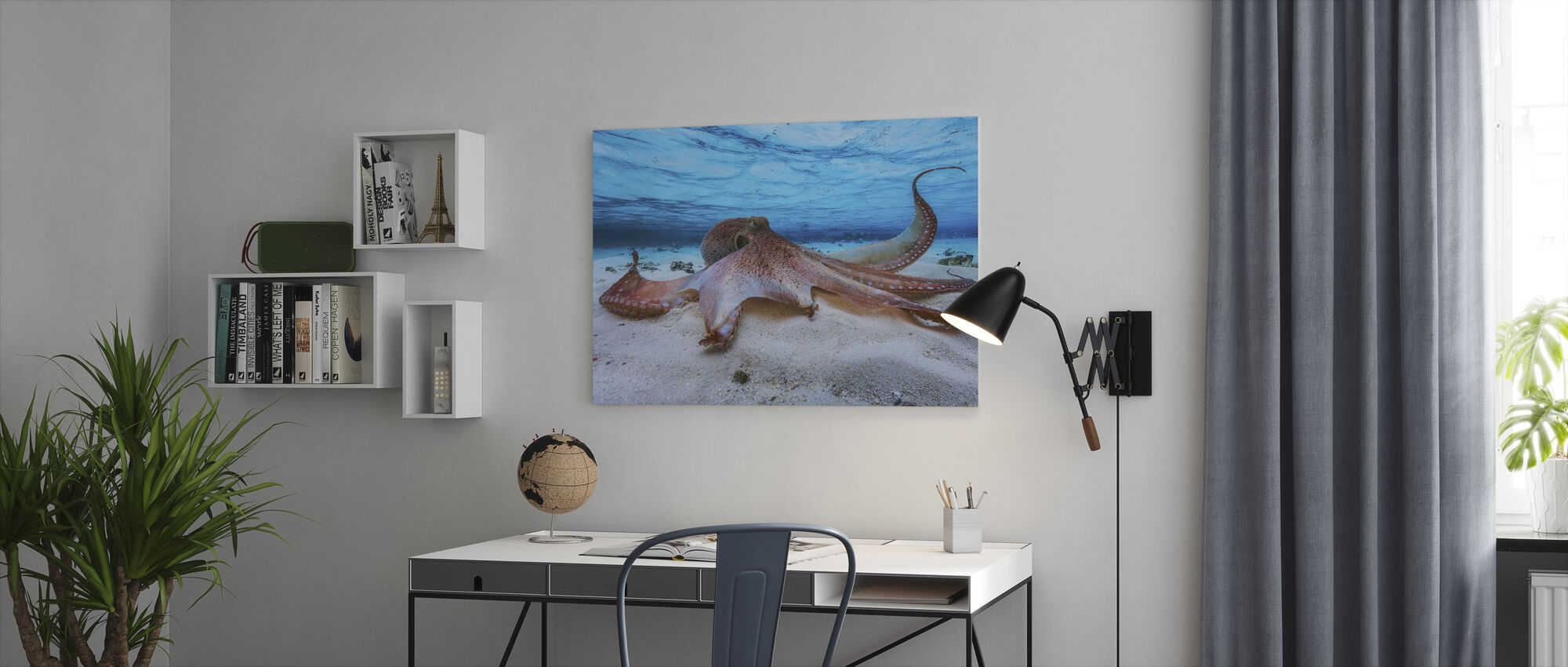 Octopus - Canvas print - Office