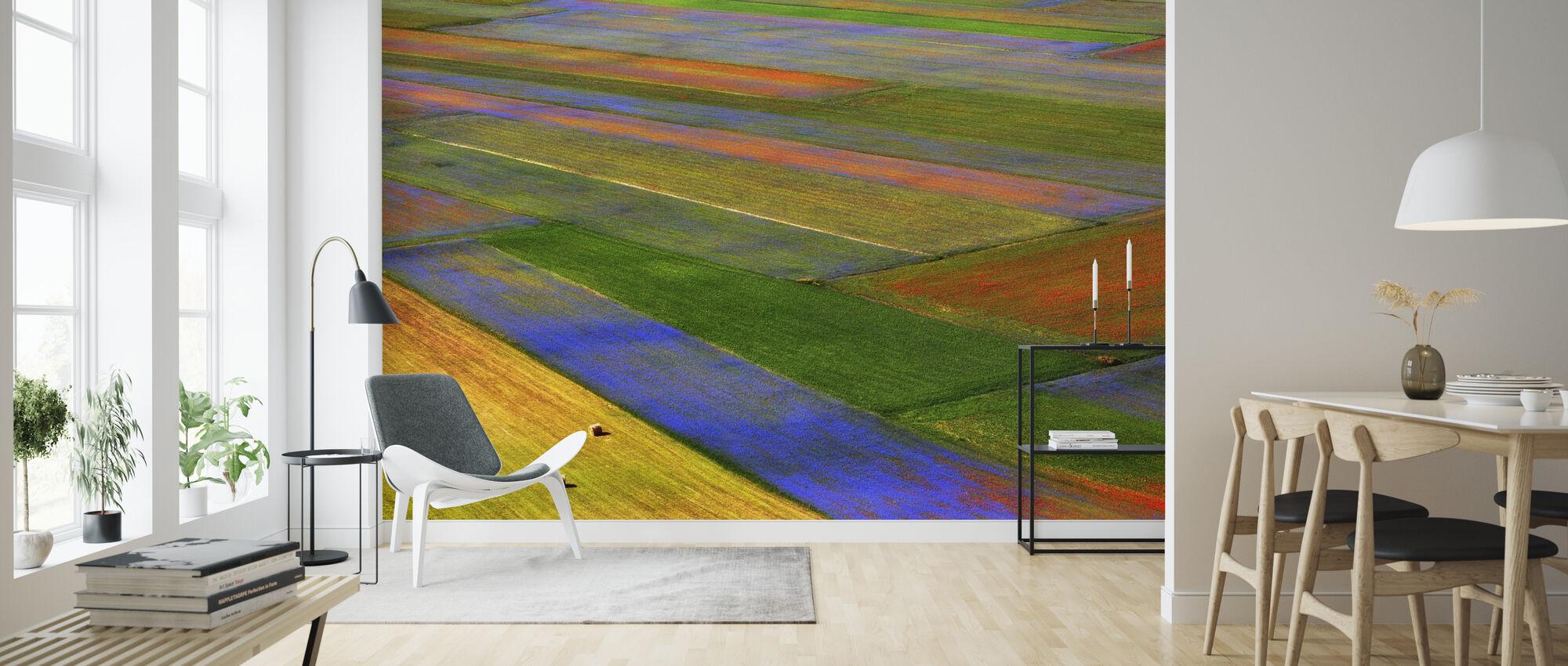 Kleurrijk veld - Behang - Woonkamer