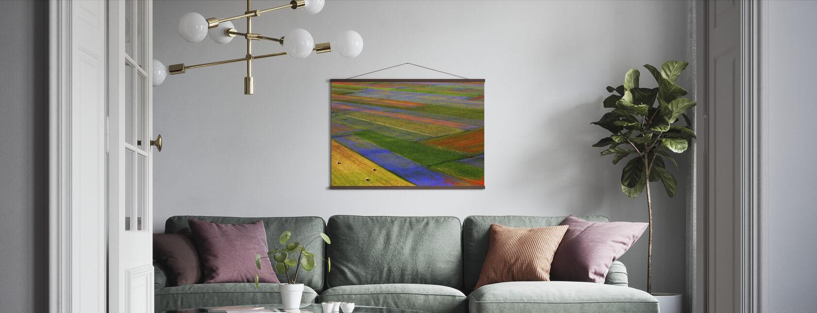 Färgglada fält - Poster - Vardagsrum