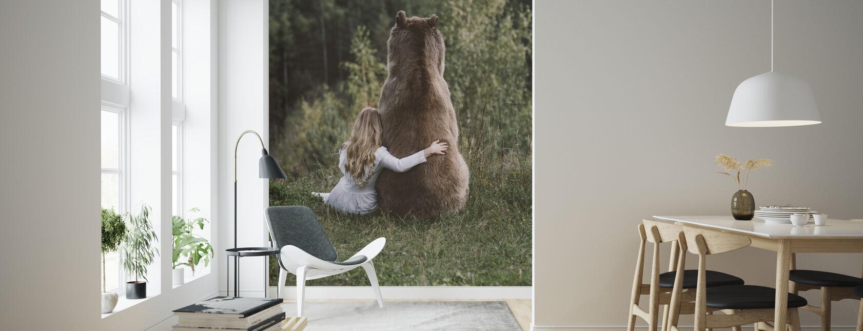 Bear Hug - Wallpaper - Living Room