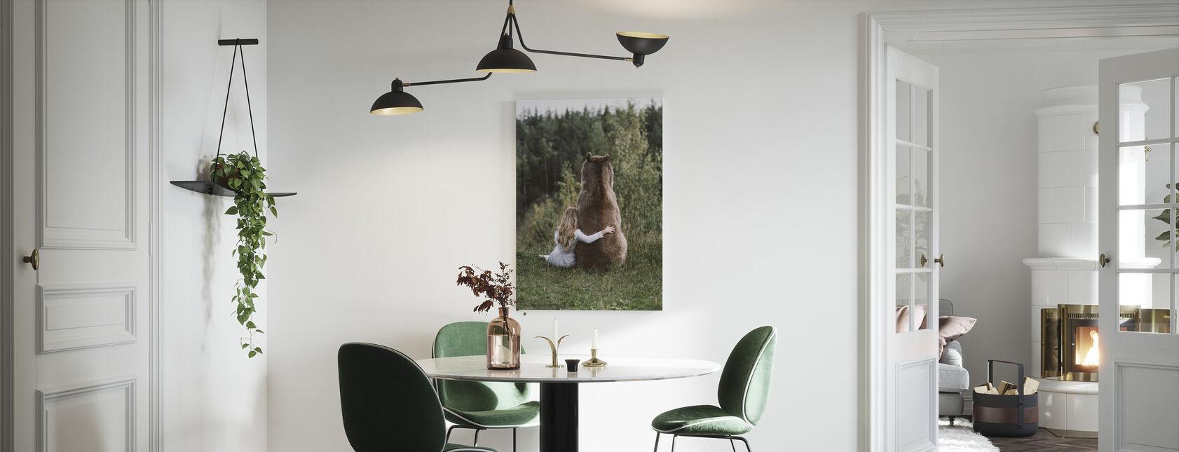 Björnkram - Canvastavla - Kök