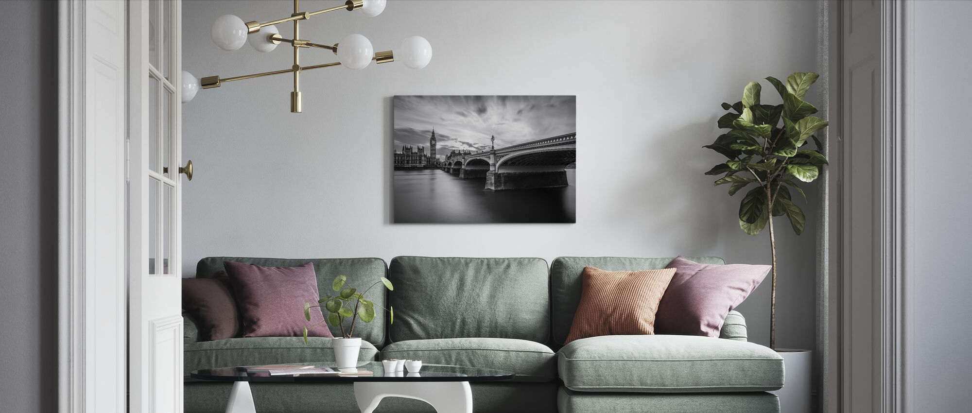 Westminster Serenity - Canvas print - Living Room