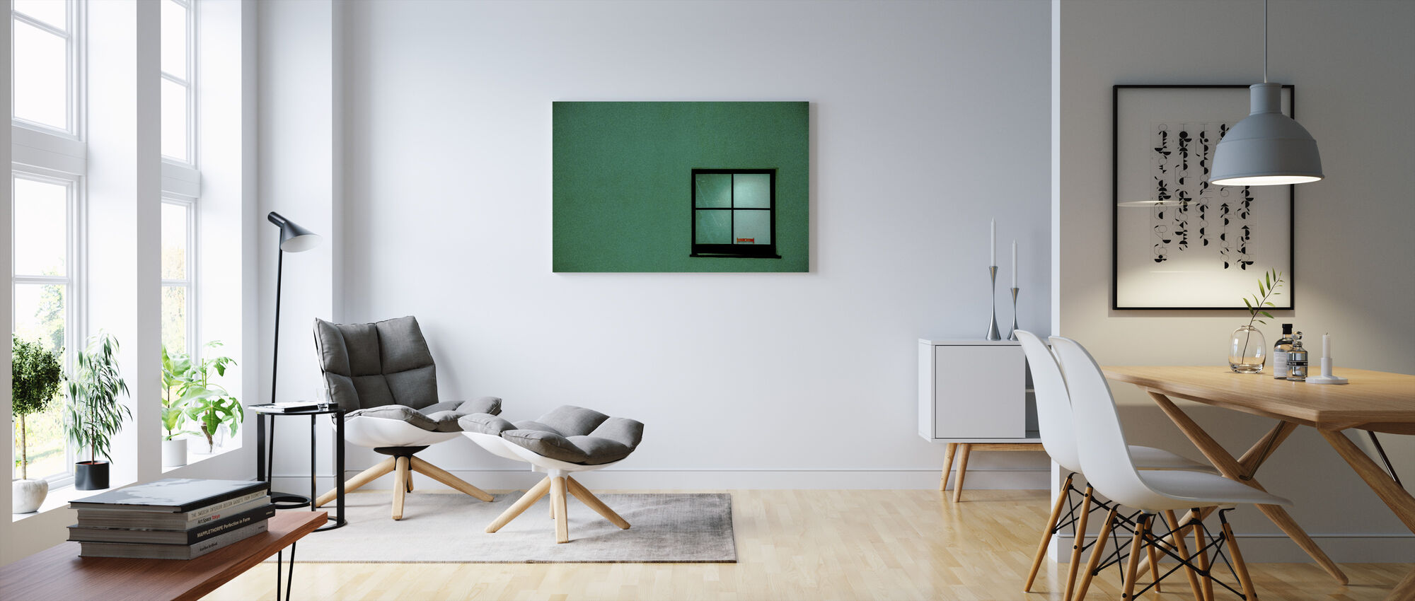 Green Window - Canvas print - Living Room