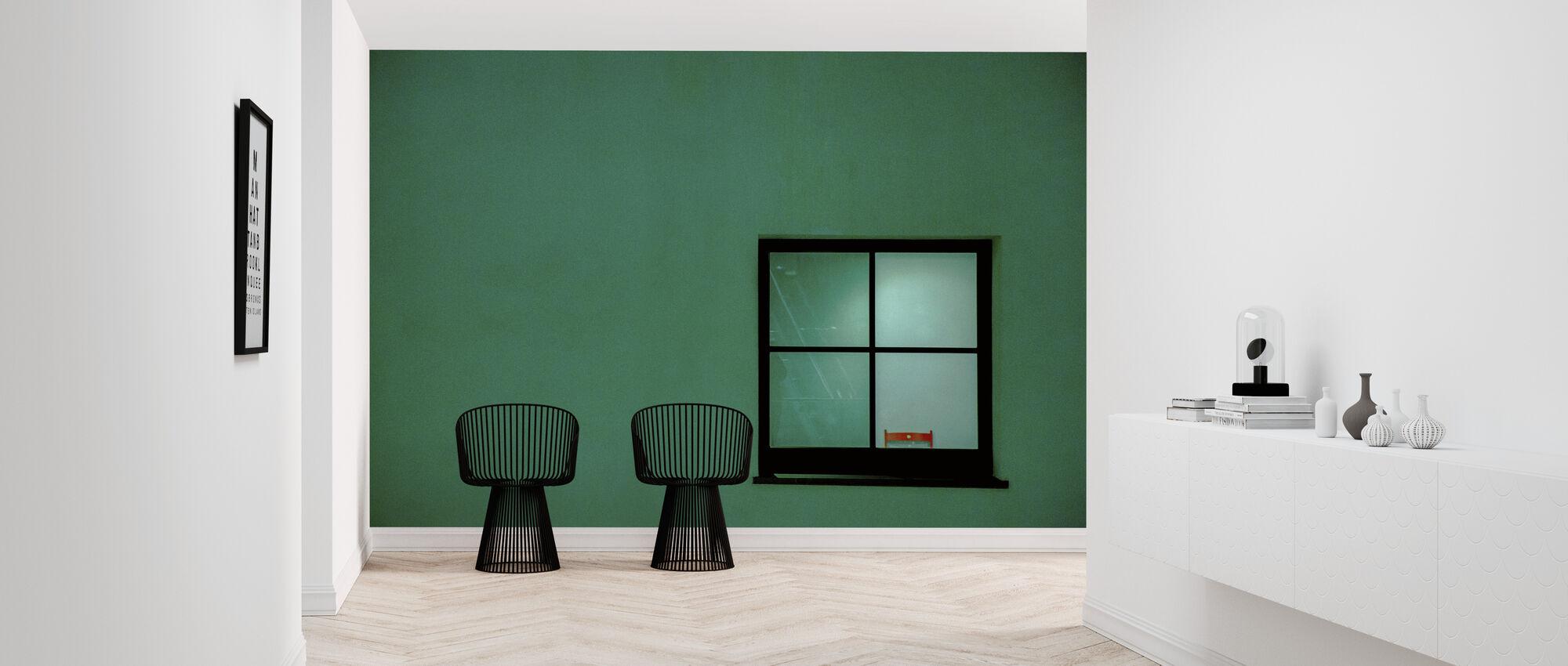 Green Window - Wallpaper - Hallway