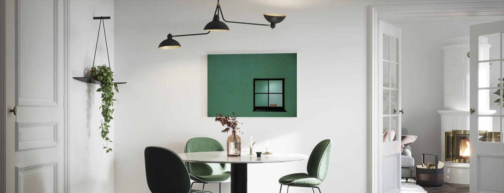 Green Window - Canvas print - Kitchen