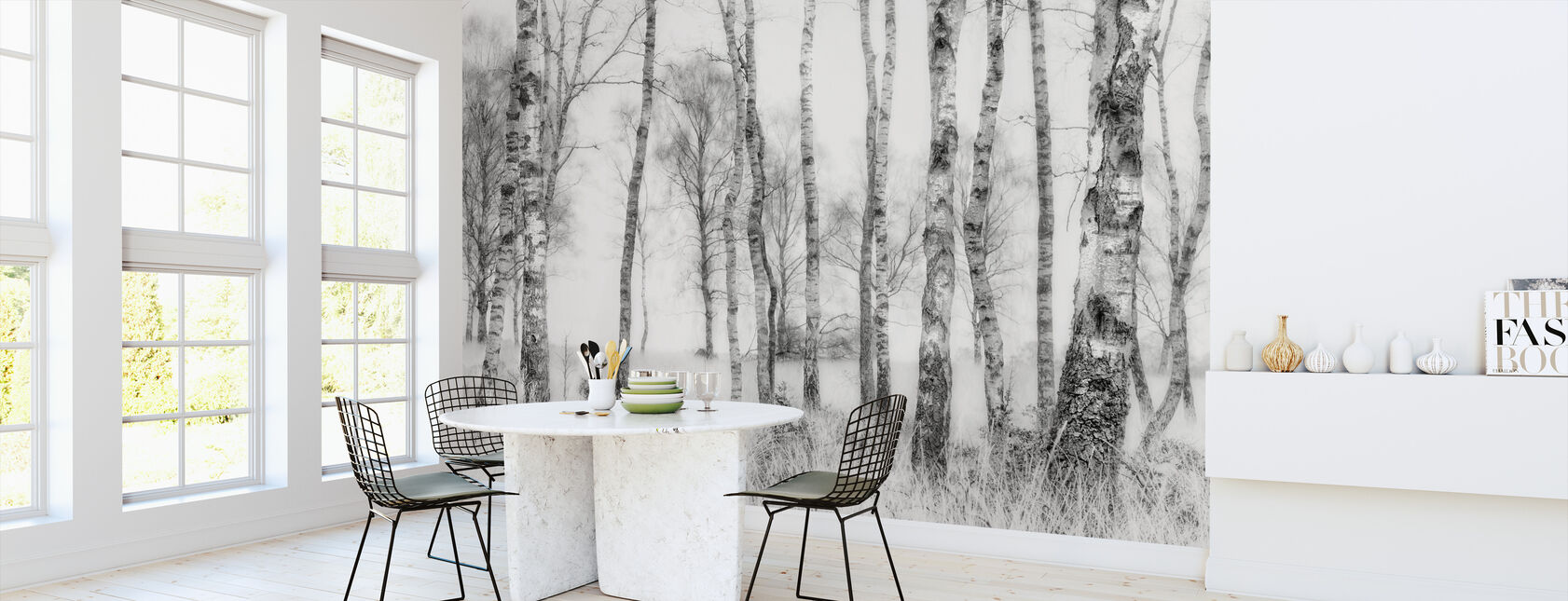 Black and White - Papel pintado - Cocina