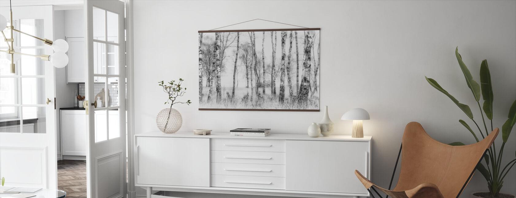 Schwarz und Weiß - Poster - Wohnzimmer