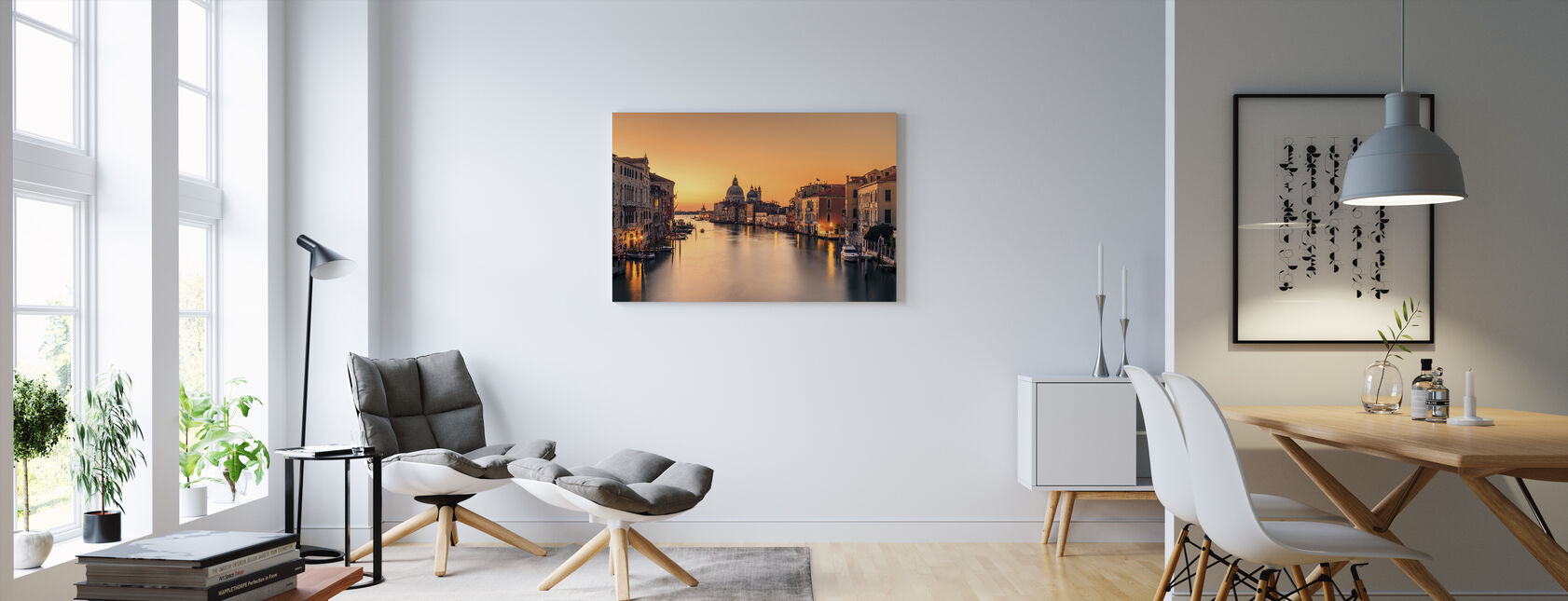 Dawn on Venice - Canvas print - Living Room