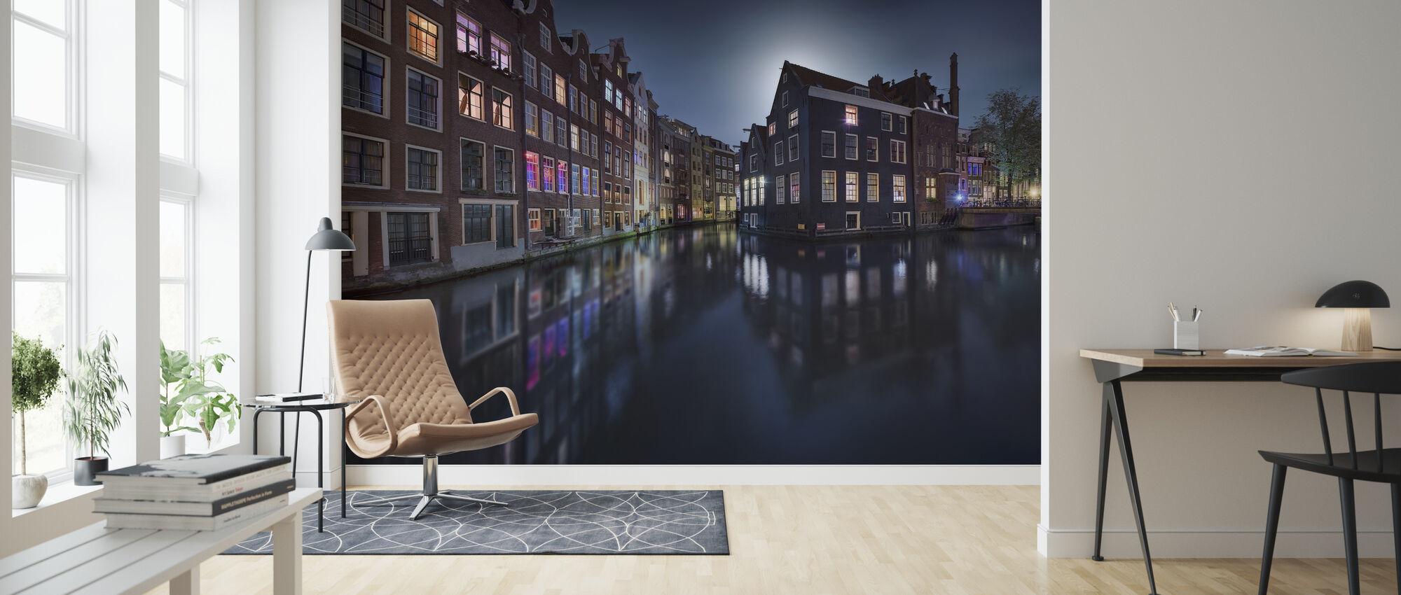 Moonlight Over Amsterdam - Wallpaper - Living Room