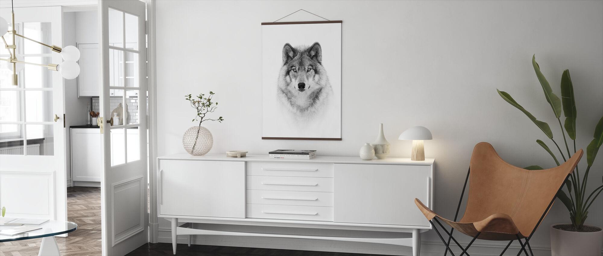 Portræt Af En Træulv - Plakat - Stue