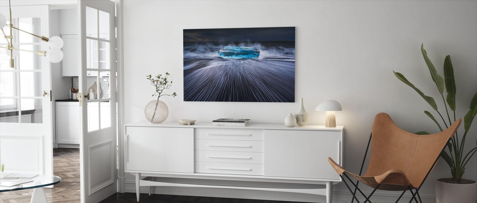 Blue Diamond - Canvas print - Living Room