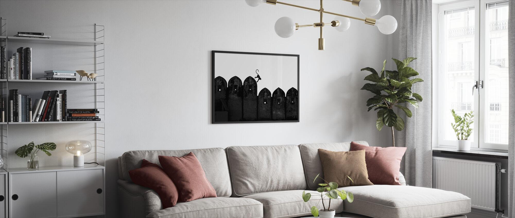 Monkey - Framed print - Living Room