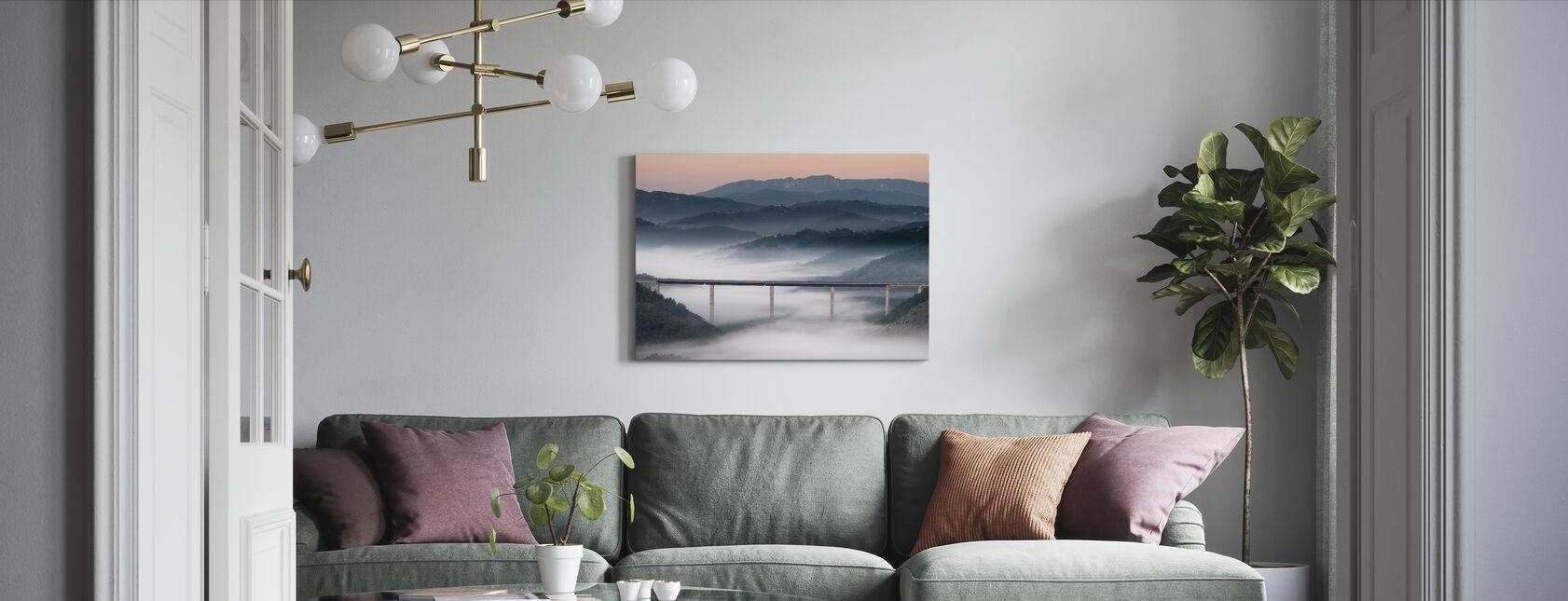 Misty Bridge - Canvas print - Living Room