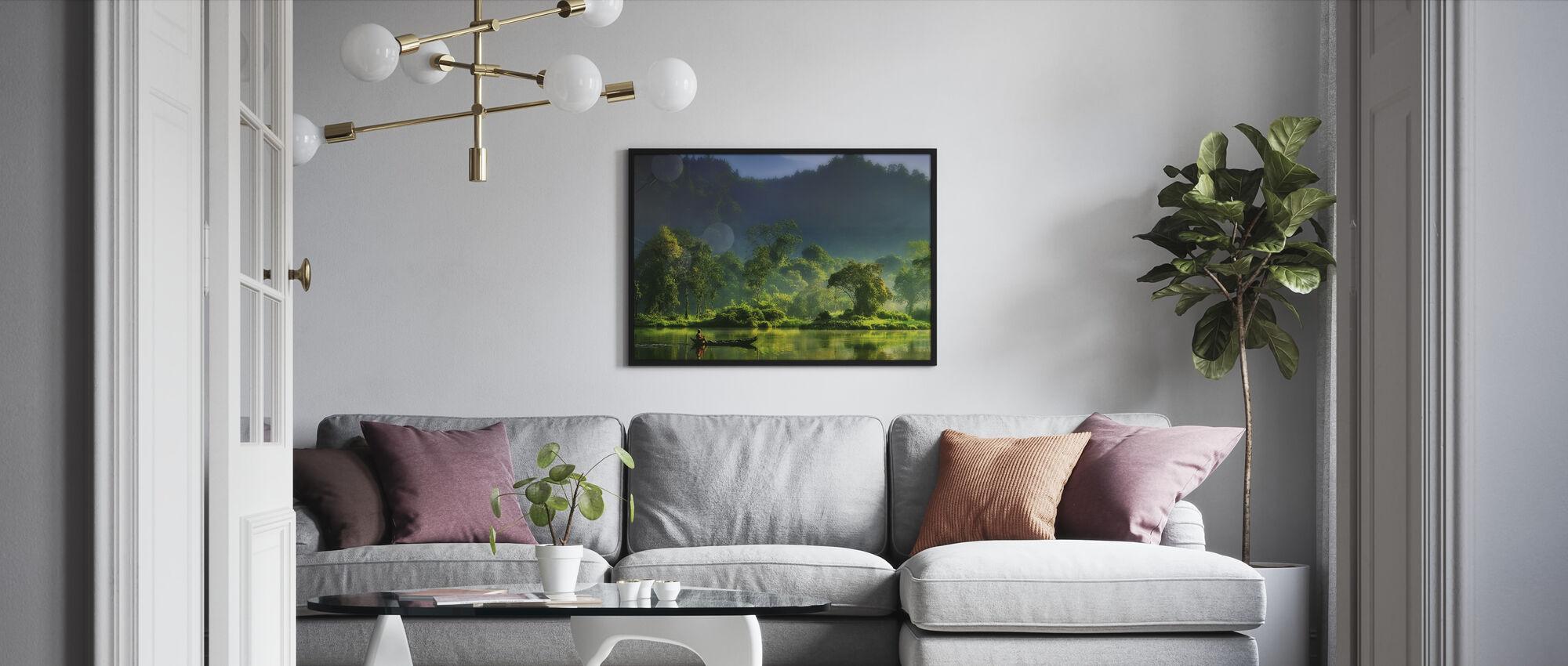 Maleri av naturen - Innrammet bilde - Stue
