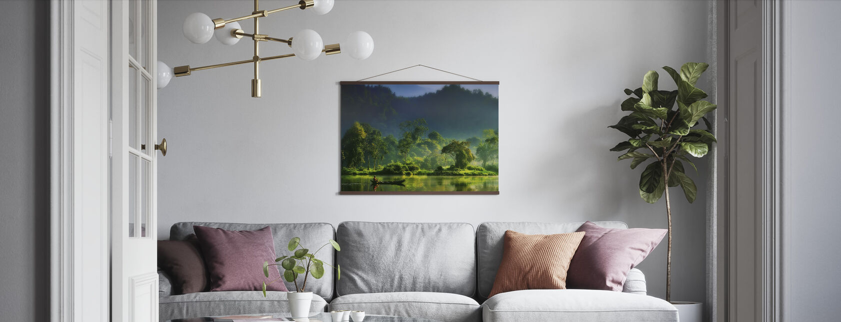 Painting of Nature - Poster - Living Room