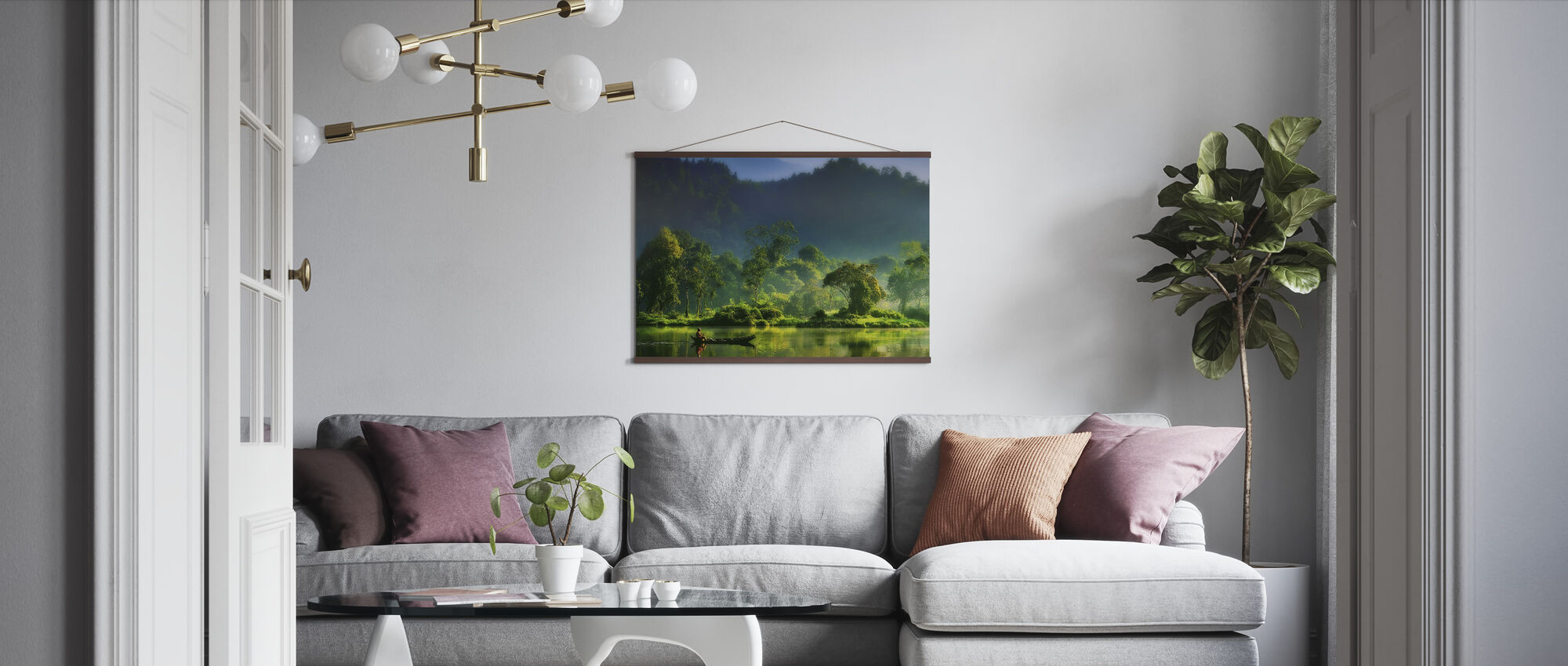 Schilderij van de natuur - Poster - Woonkamer