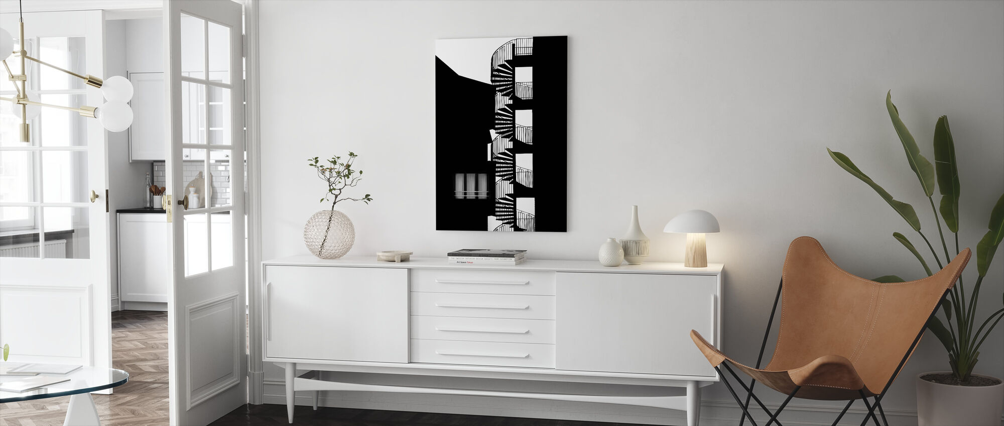 Silhouette - Canvas print - Living Room