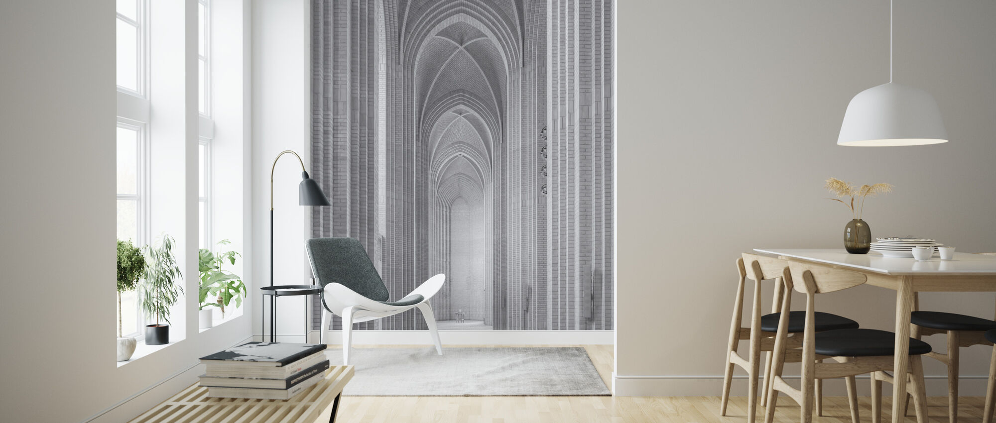 Grundtvig Church - Wallpaper - Living Room