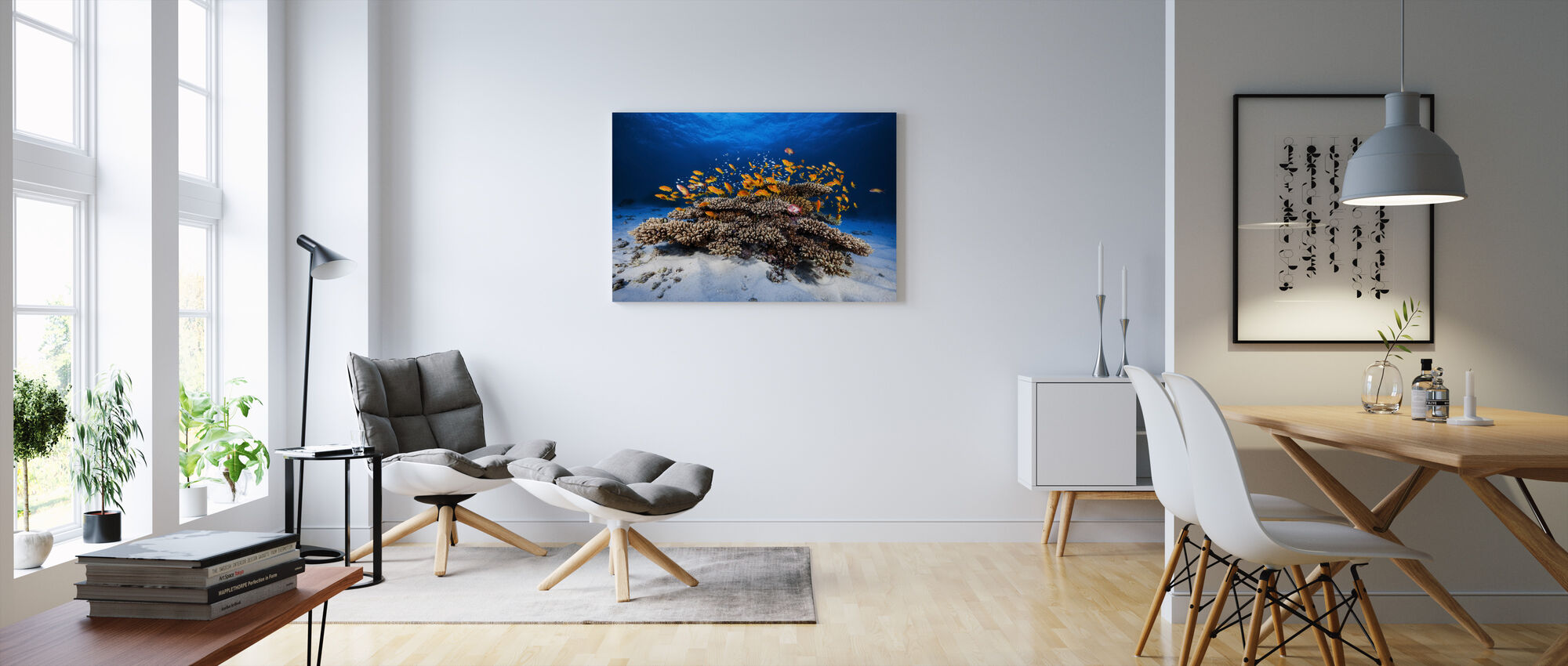 Meren elämä - Canvastaulu - Olohuone