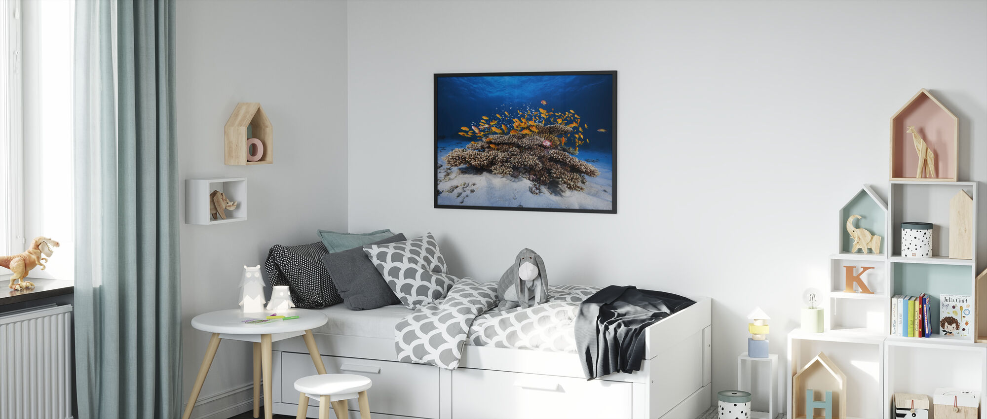 Marine Life - Framed print - Kids Room