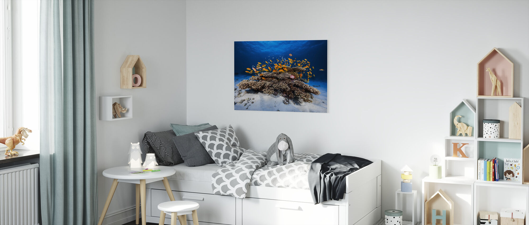 Marine Life - Canvas print - Kids Room