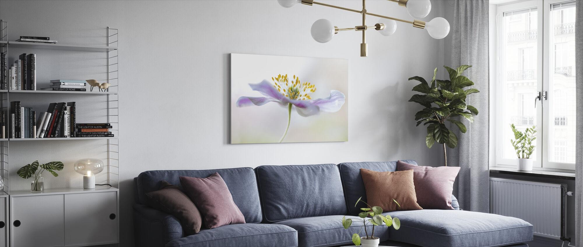 Wood Anemone - Canvas print - Living Room