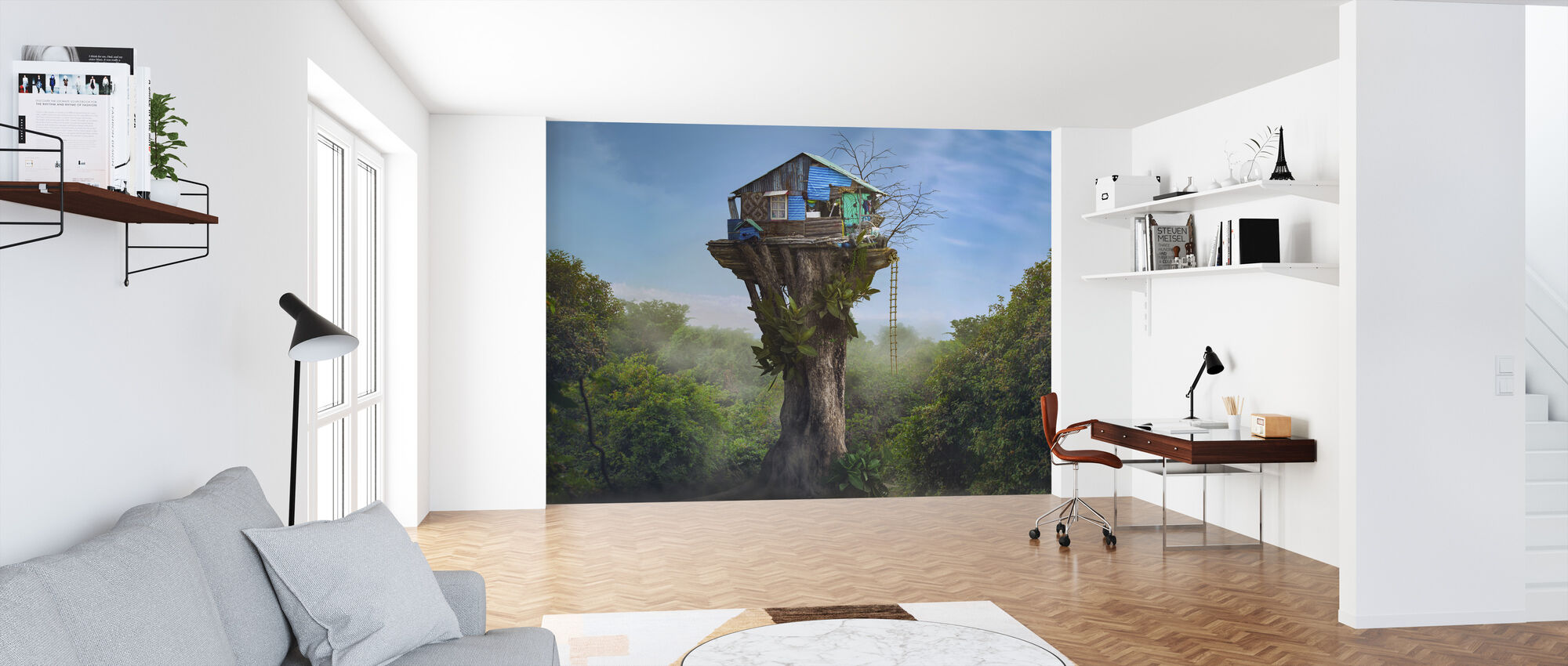 House in the Sky - Wallpaper - Office