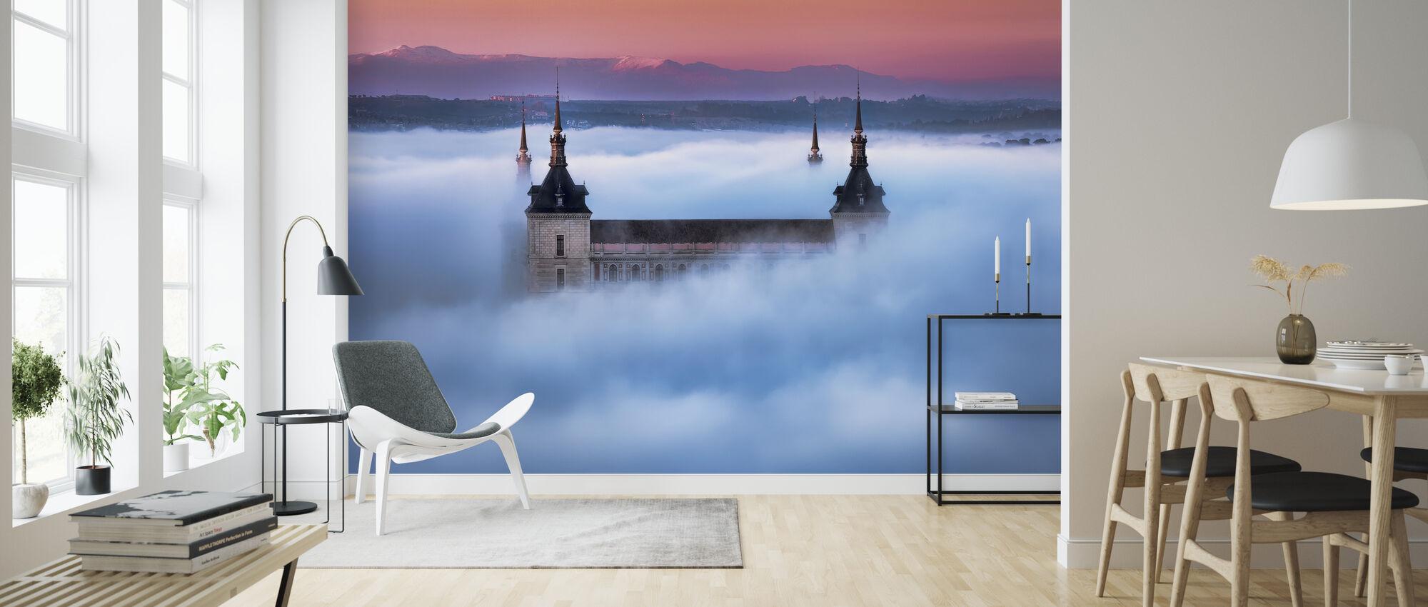 Toledo City Foggy Sunset - Wallpaper - Living Room