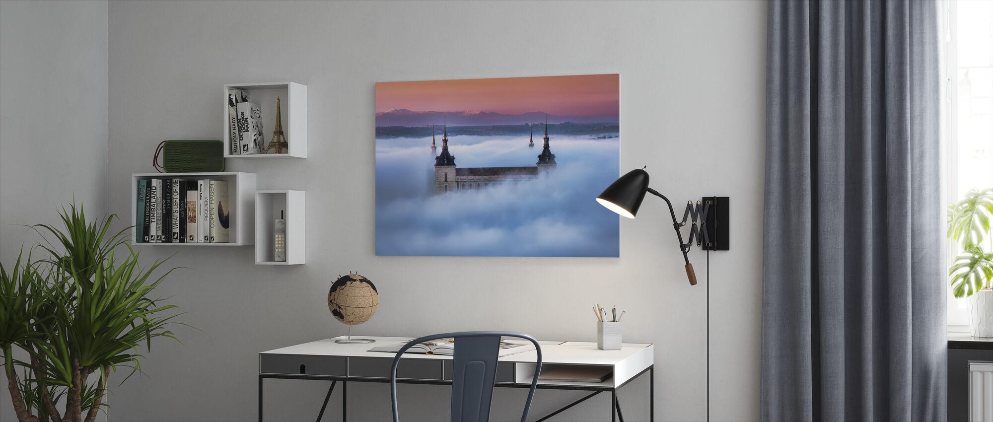 Toledo City Foggy Sunset - Canvas print - Office