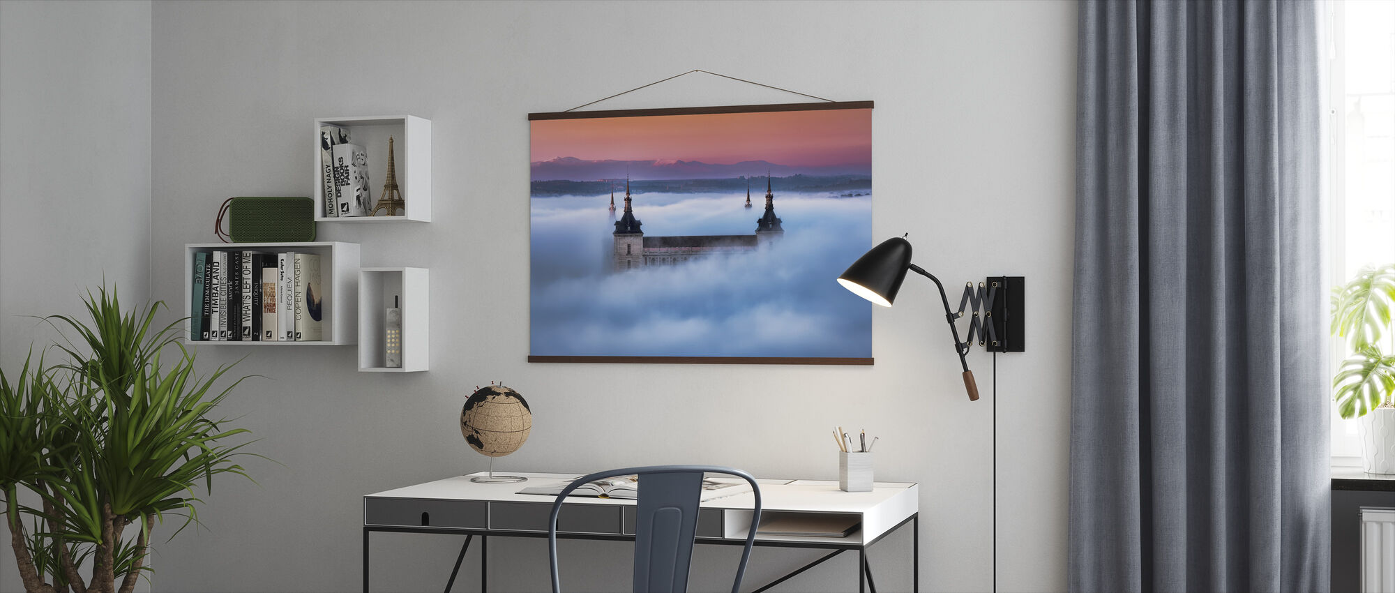 Toledo City Foggy Sunset - Poster - Office