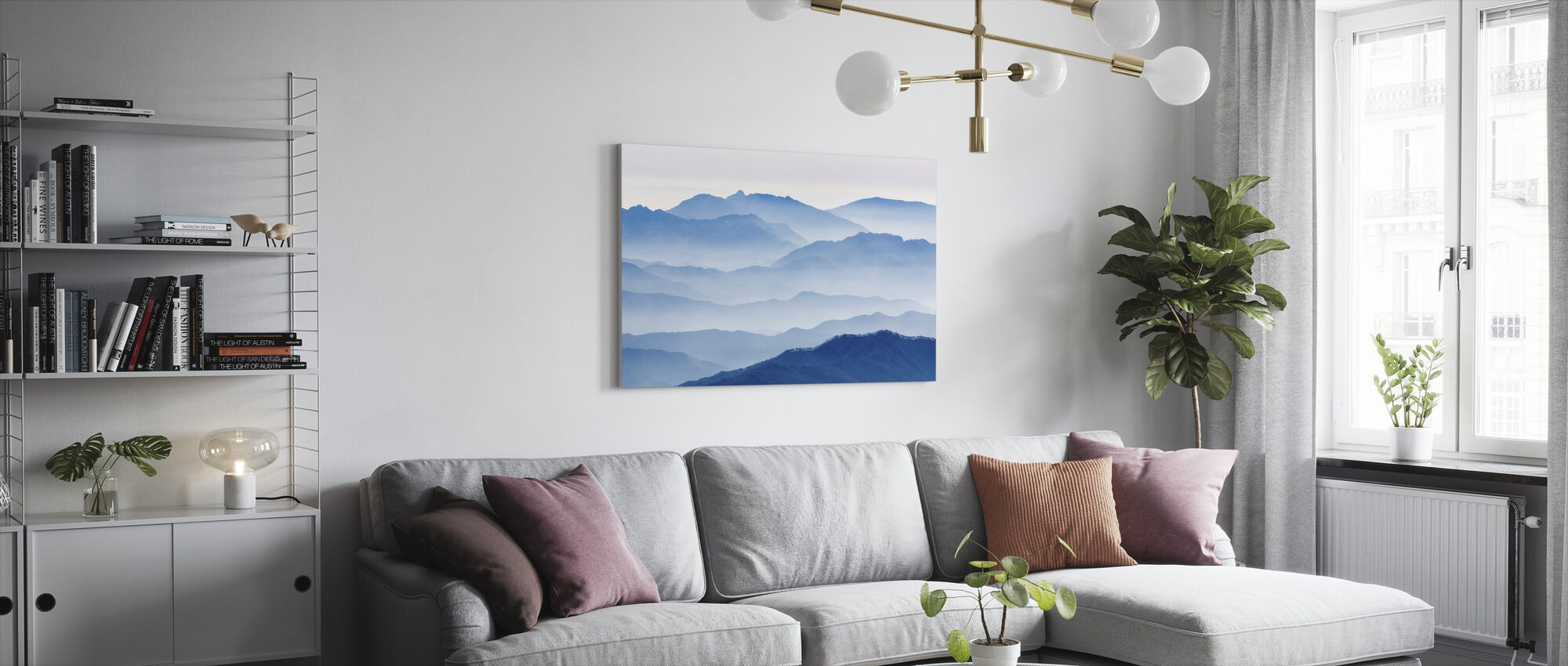 Misty Mountains - Canvas print - Living Room