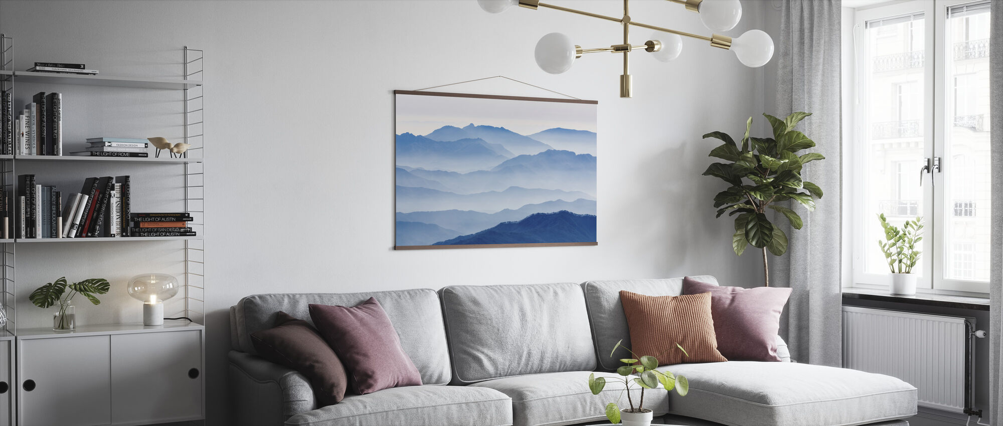 Misty Mountains - Poster - Living Room