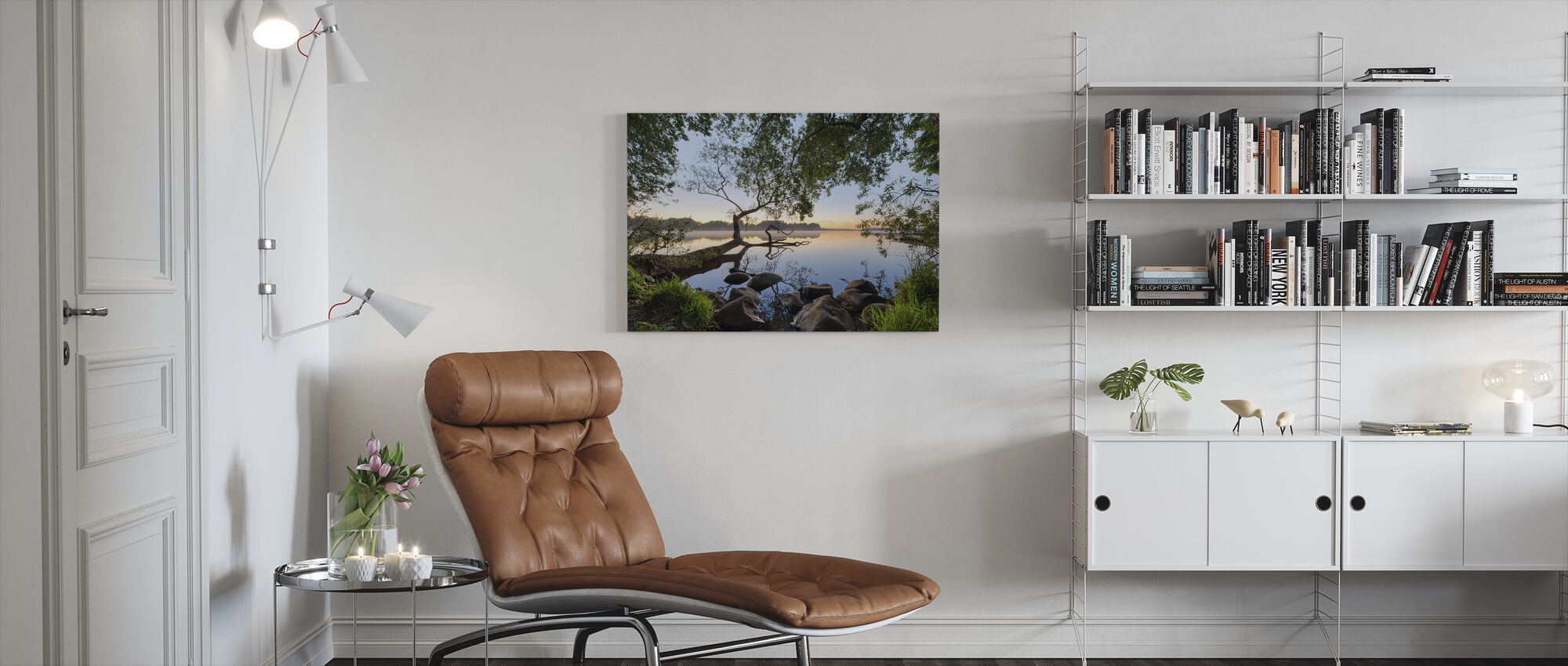 Touch van Water - Canvas print - Woonkamer