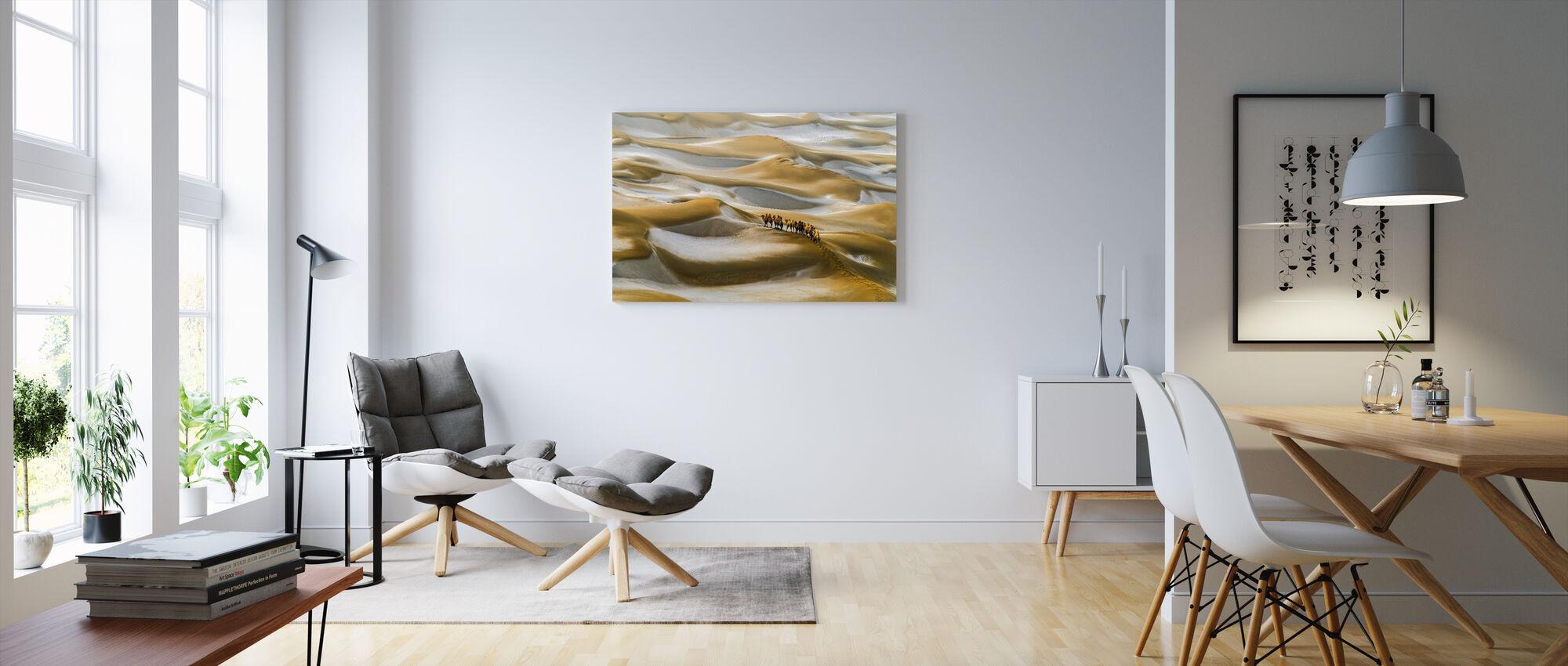 Aavikko Talvi - Canvastaulu - Olohuone