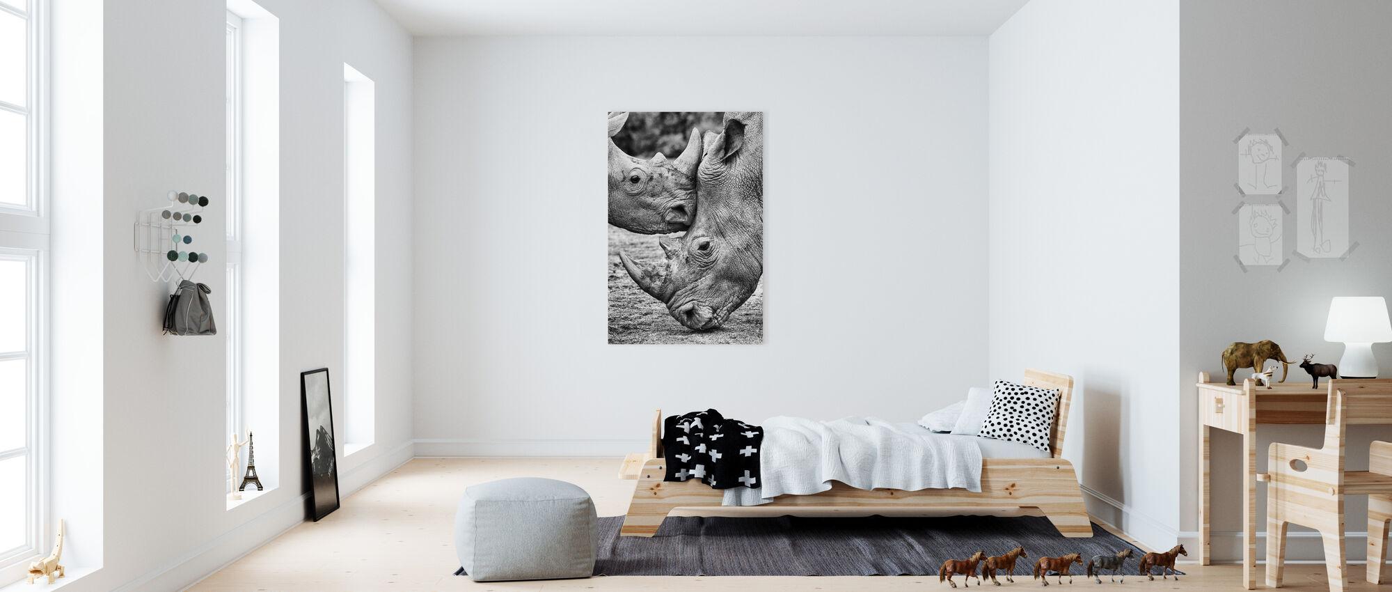 Gezicht tot Gezicht - Canvas print - Kinderkamer