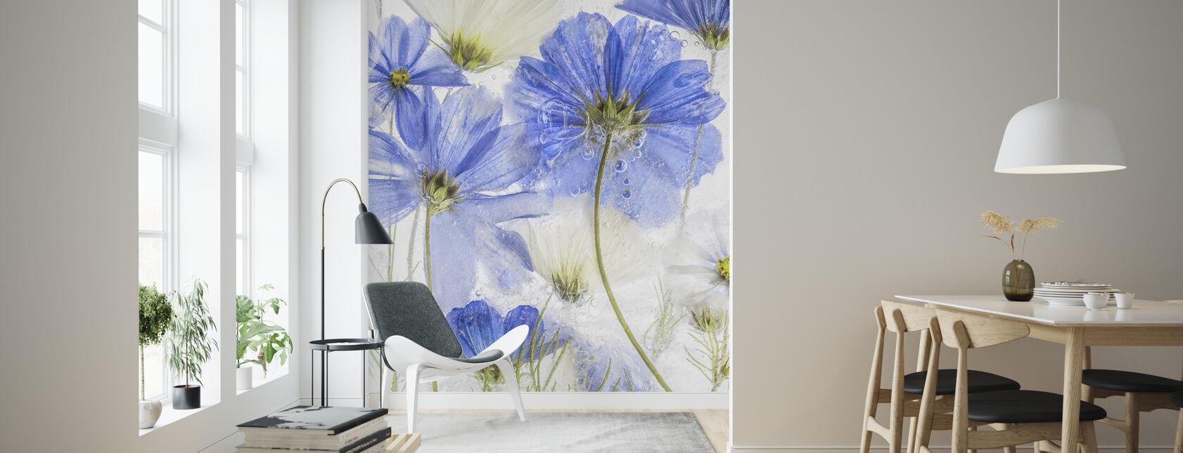 Cosmos Blue - Wallpaper - Living Room
