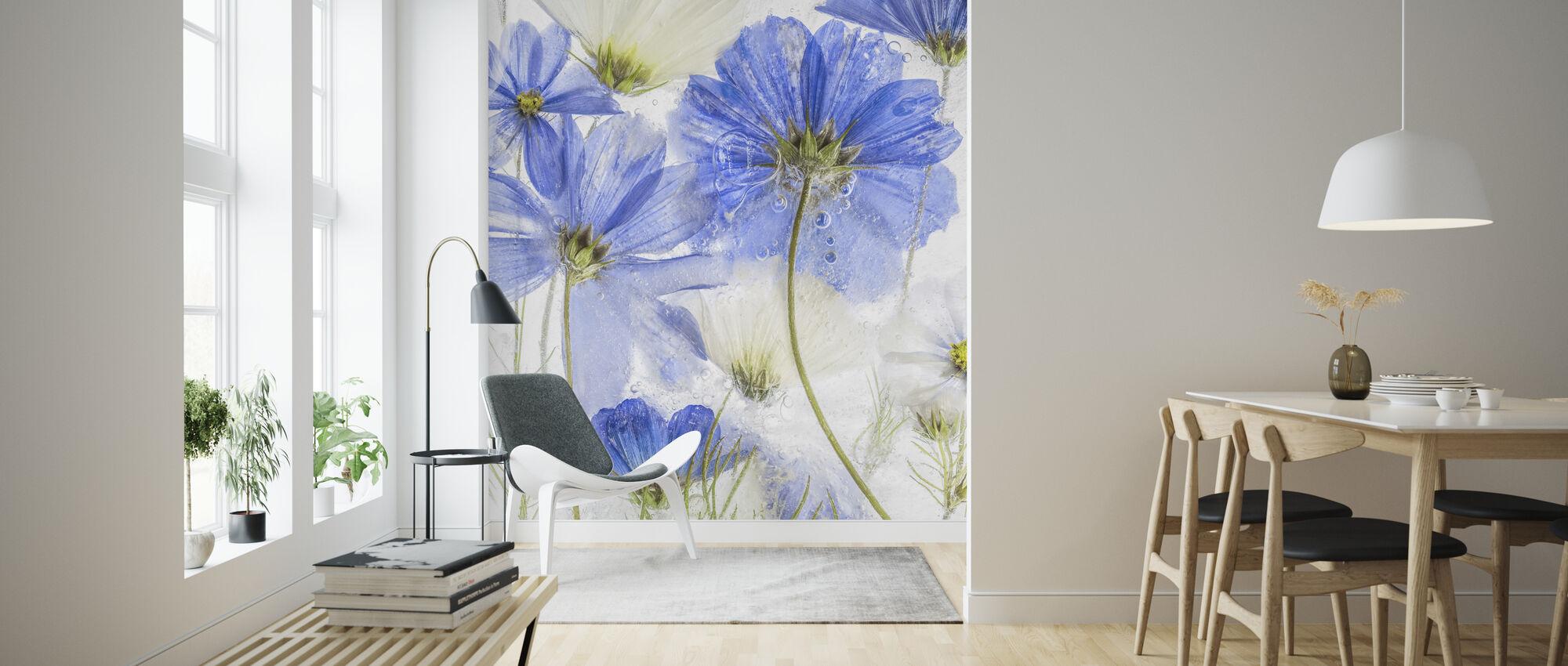 Cosmos Blå - Tapet - Vardagsrum
