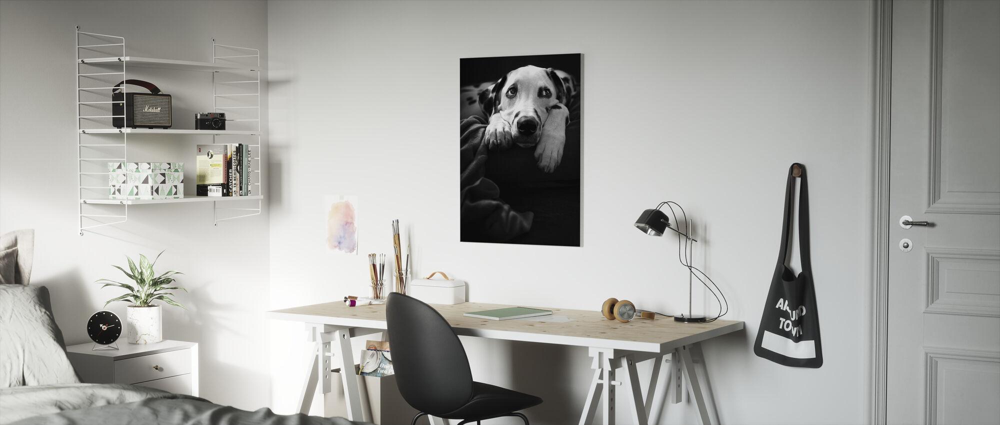 nothing is happening :-( - Canvas print - Kids Room