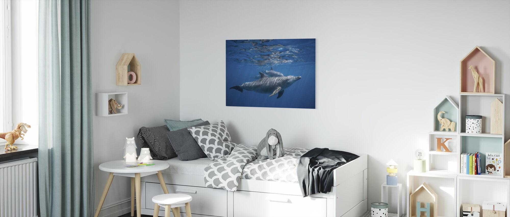 Pod van Dolfijn - Canvas print - Kinderkamer