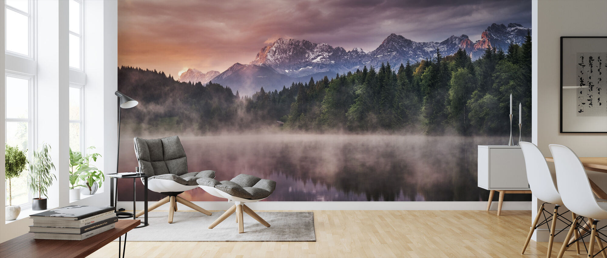 Sunrise at the Lake - Wallpaper - Living Room