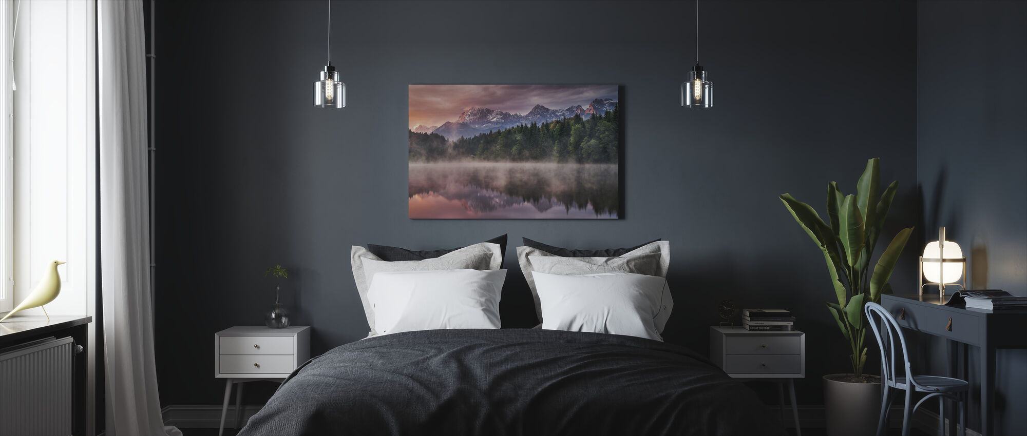 Sunrise at the Lake - Canvas print - Bedroom