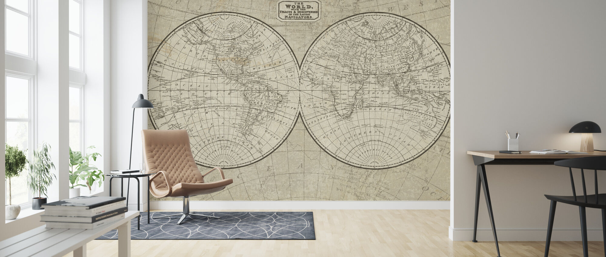 World Map - Wallpaper - Living Room