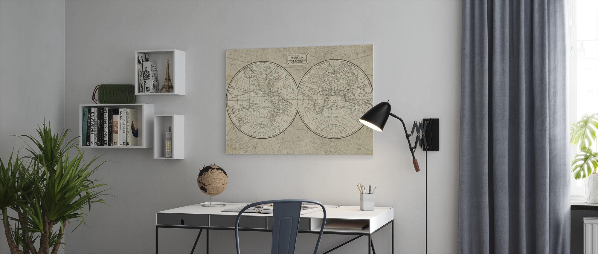 Carte du monde - Impression sur toile - Bureau