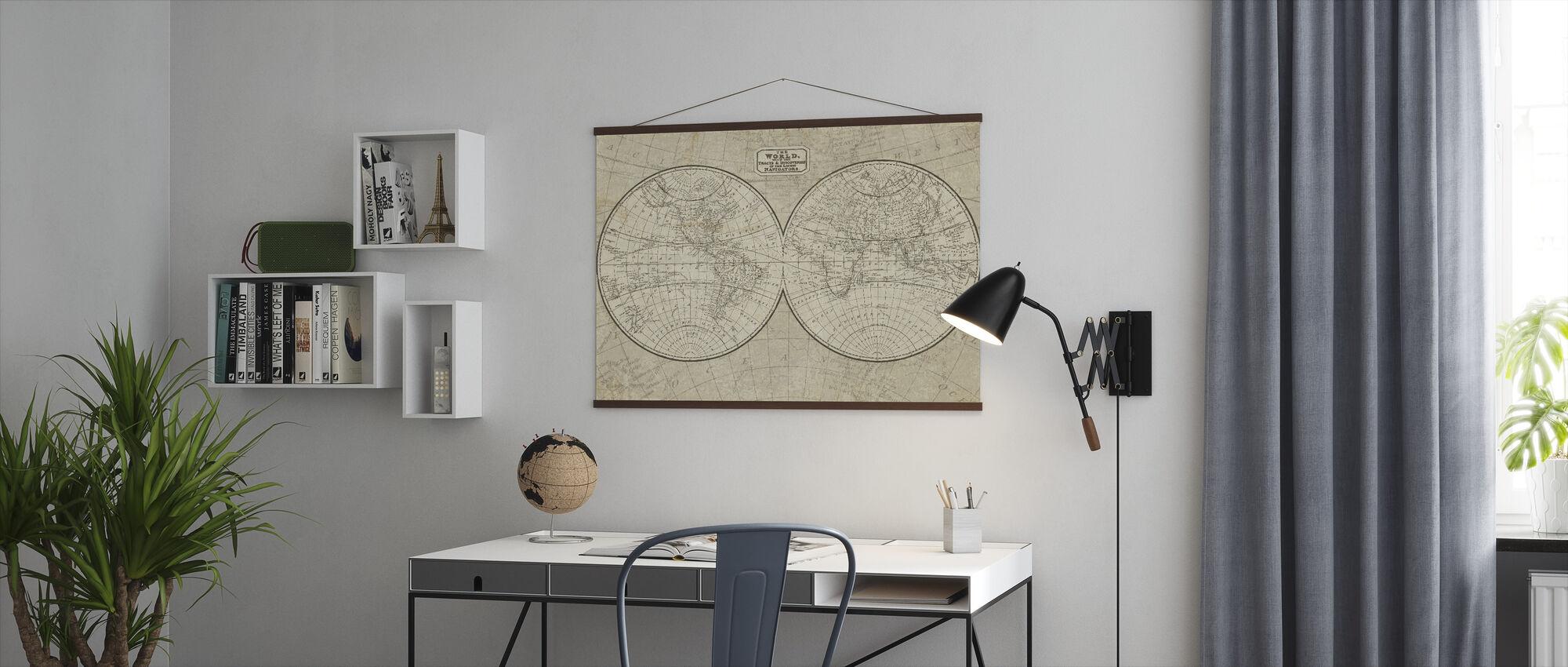 Maailman Kartta - Juliste - Toimisto