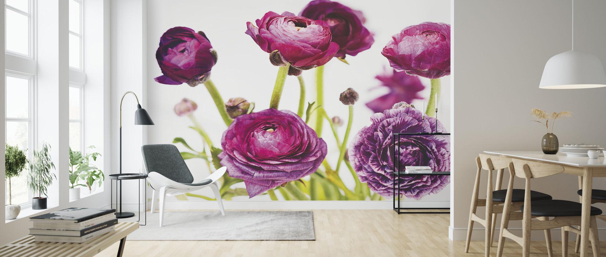 Spring Ranunculus III - Wallpaper - Living Room