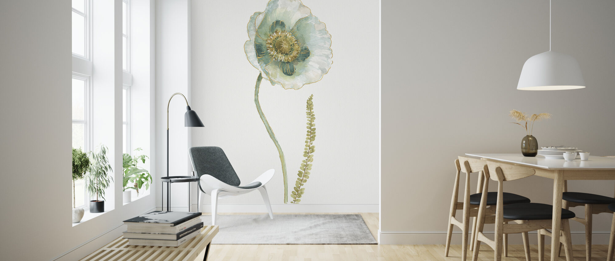 My Greenhouse Single Poppy I - Wallpaper - Living Room