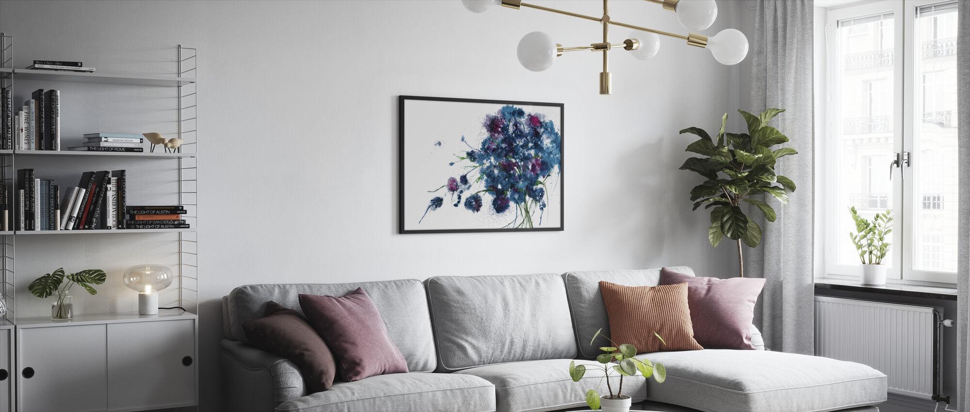 Blue Bouquet - Framed print - Living Room