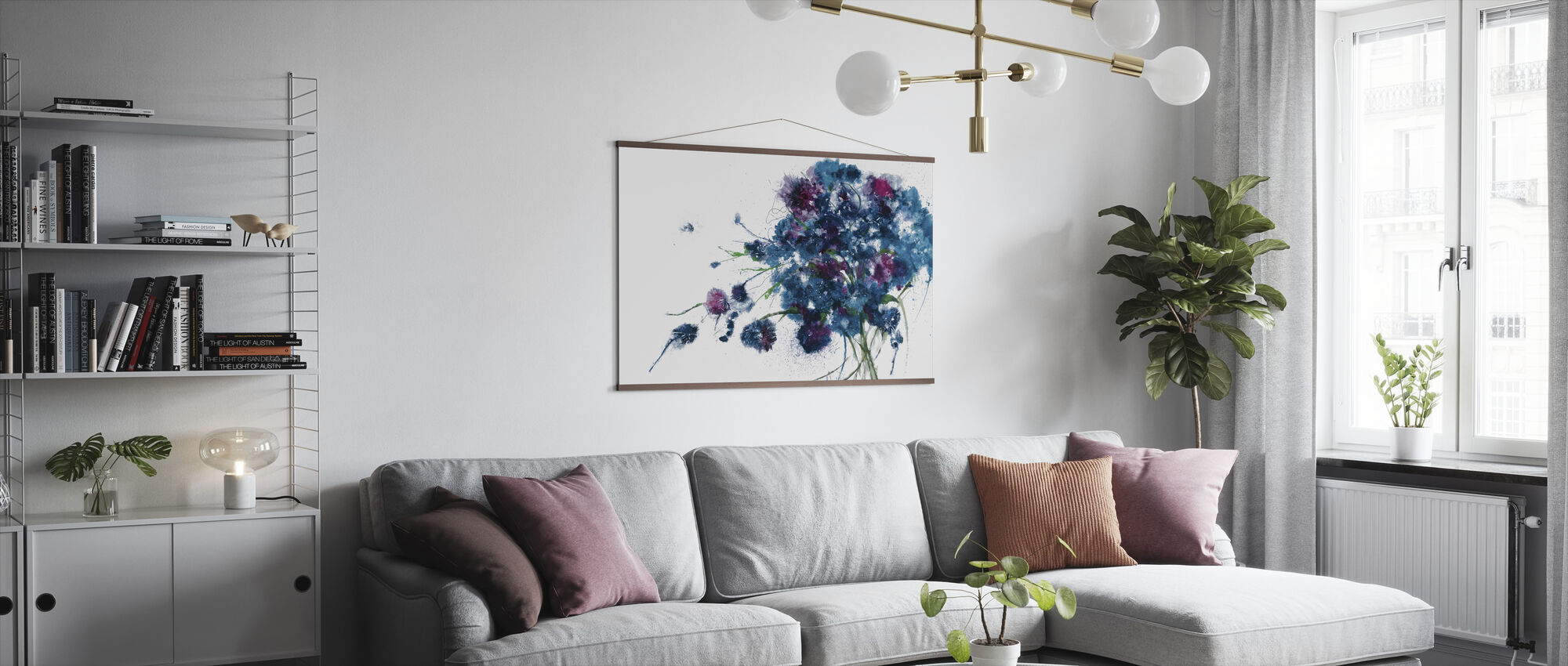 Blue Bouquet - Poster - Living Room