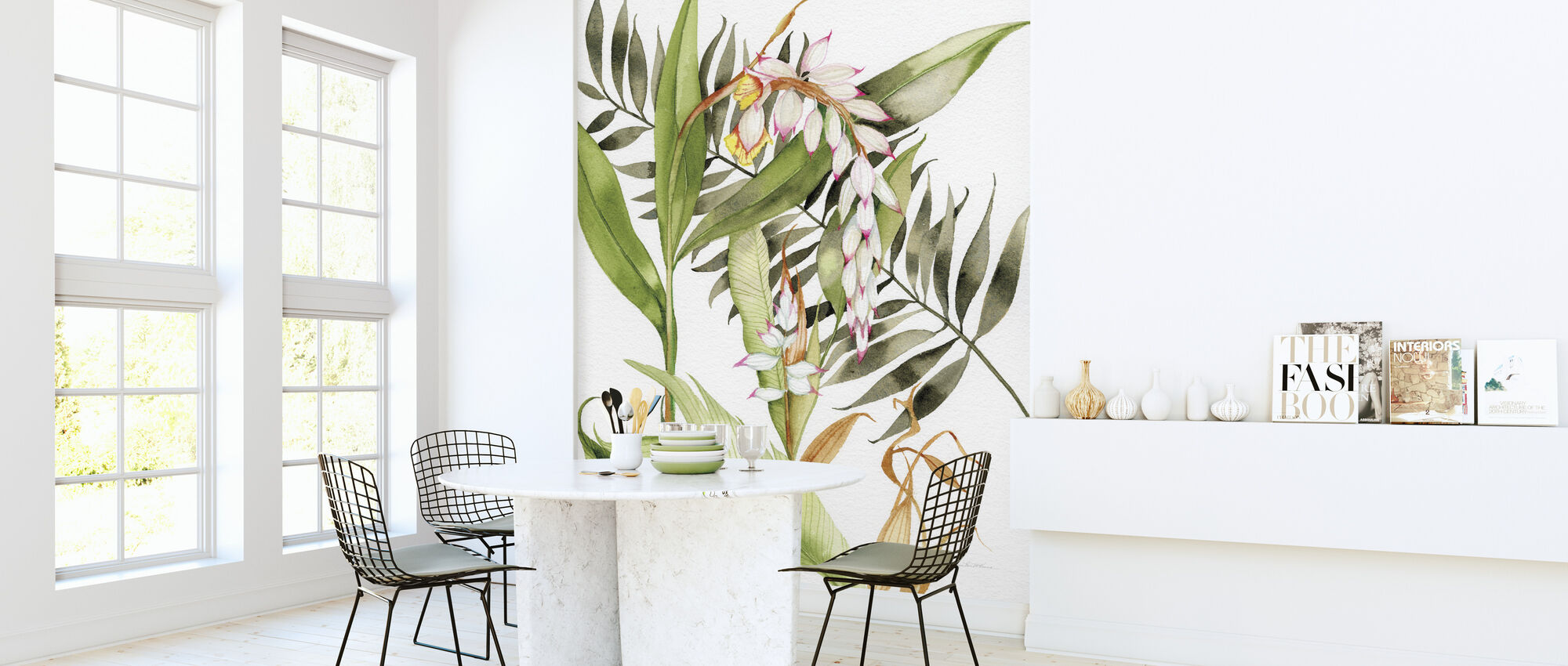 Botanical Shell Ginger Crop - Wallpaper - Kitchen