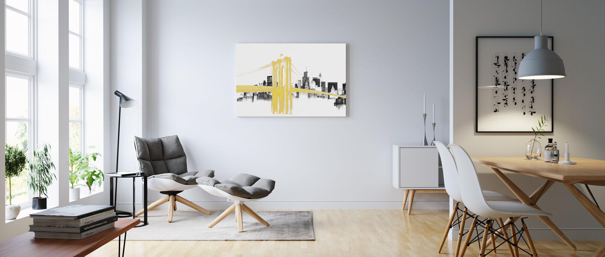 Skyline Crossing Yellow - Canvas print - Living Room